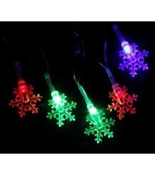Новогодняя гирлянда Luazon Снежинки малые Метраж 5 м нить силикон LED мульти 541...