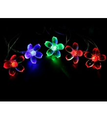Новогодняя гирлянда Luazon Лилия 5 м силикон LED Метраж мульти 541530...