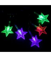Новогодняя гирлянда Luazon Звезда в крапинку 5 м силикон LED Метраж мульти 54153...