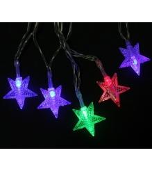 Новогодняя гирлянда Luazon Звезды Метраж 3 м нить силикон LED мульти 806825...