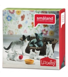 Набор для кукольного домика Lundby Кошачья семья LB_60805700