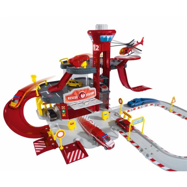 Игровой набор Majorette парковка пожарная станция 2050015