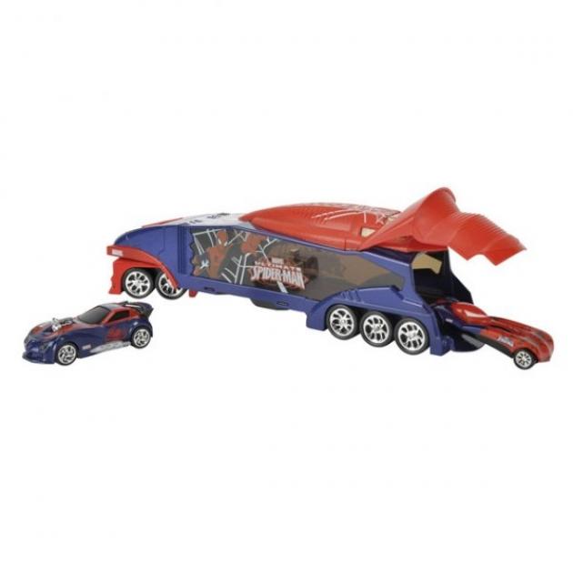 Игровой набор Majorette Человек Паук Трейлер с 2 авто 3089814