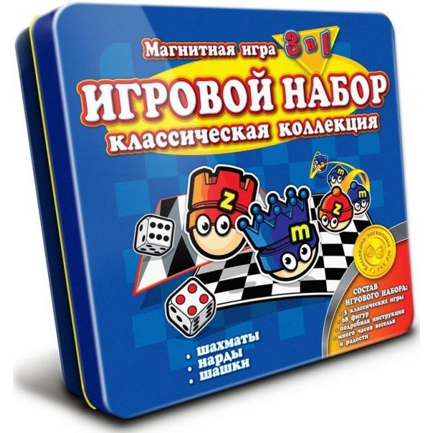 Магнитная игра Mack Zack 3 в 1 Шахматы Шашки Нарды GS Classic