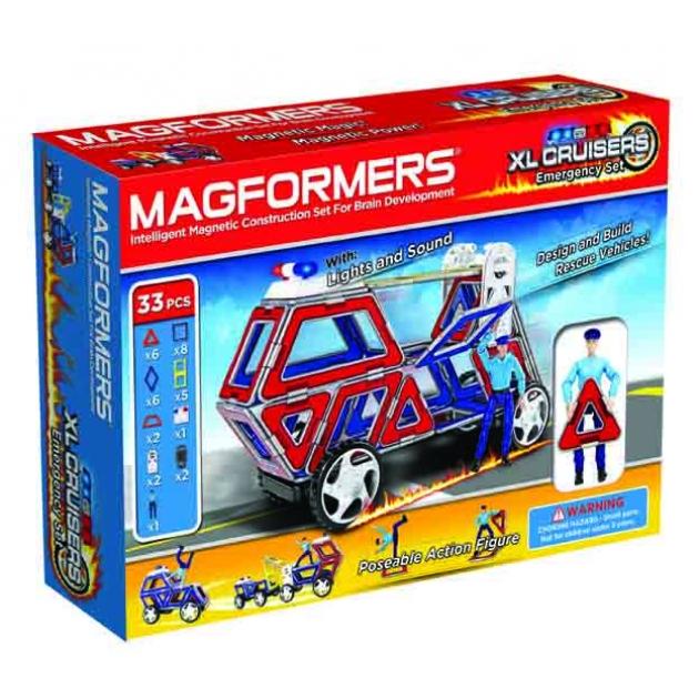 Магнитный конструктор Magformers Набор Cruisers службы спасения 63079/706002