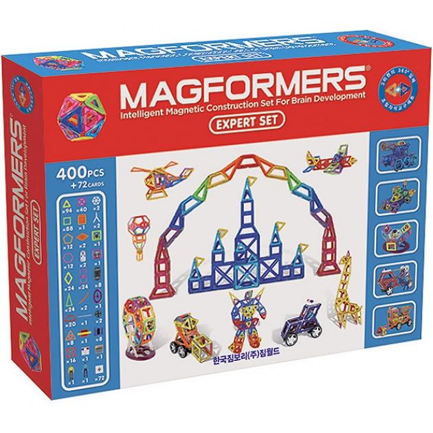 Самый большой магнитный конструктор Magformers Expert Set 63084/710003
