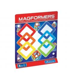 Магнитный конструктор Magformers квадраты 6 63086