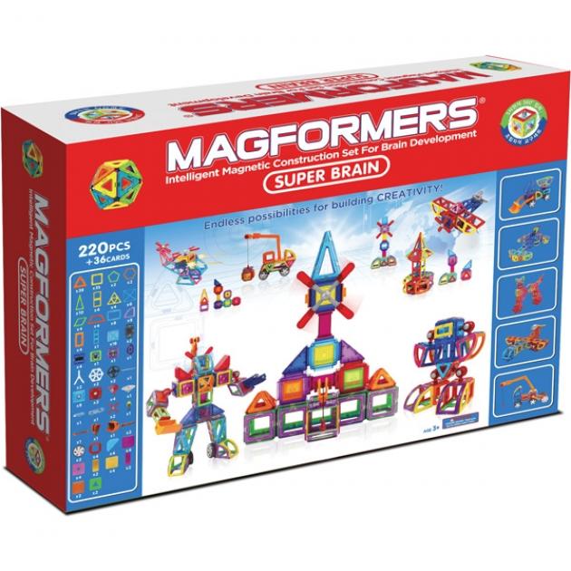Магнитный конструктор Magformers Super Brain Up set 63088/710004