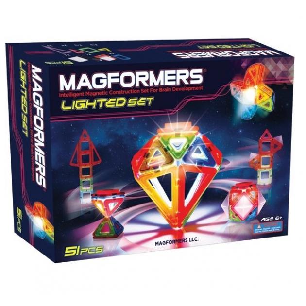 Магнитный конструктор Magformers Lighted set 63092