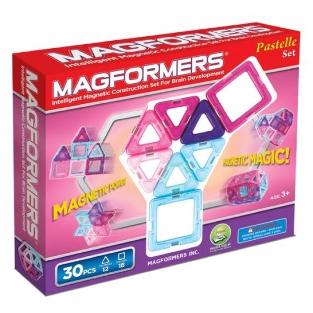 Магнитный конструктор Magformers 30 пастель 63097/704002