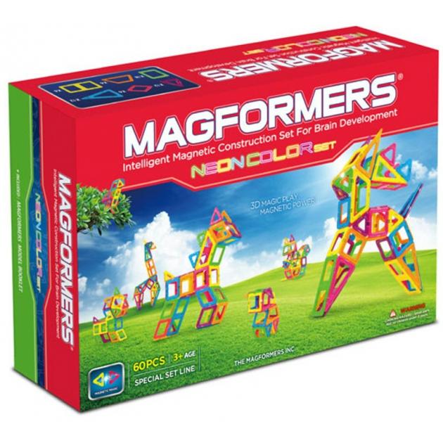 Магнитный конструктор Magformers Neon color set 60 63110/703003