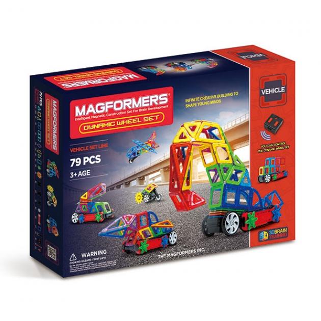 Магнитный конструктор Magformers Vehicle 63116 Колеса в действии