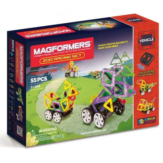 Магнитный конструктор Magformers Vehicle 63142 Гонки в зоопарке