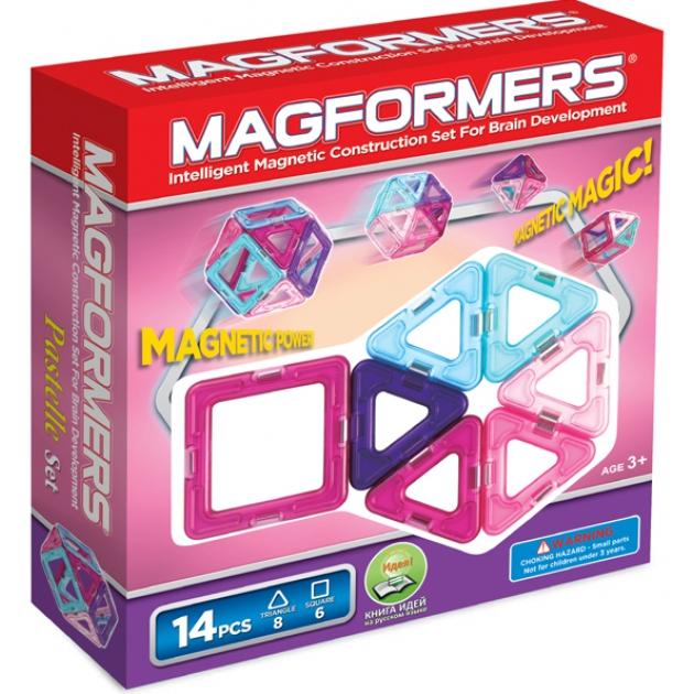 Магнитный конструктор Magformers 14 пастель 63096