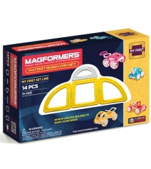 Магнитный конструктор Magformers My First Buggy жёлтый 63144/702005...
