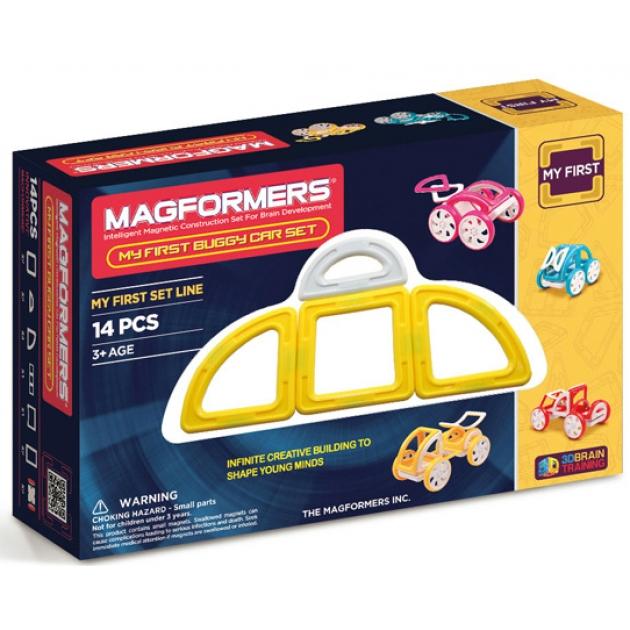 Магнитный конструктор Magformers My First Buggy жёлтый 63144/702005