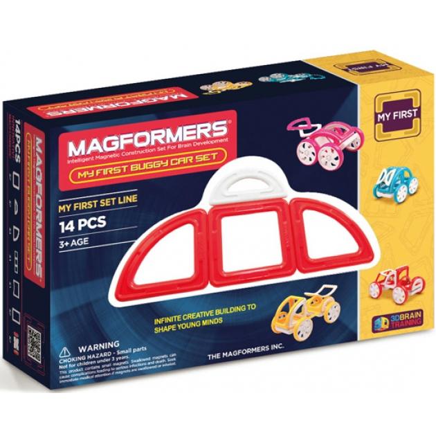 Магнитный конструктор Magformers My First Buggy красный 63145/702006