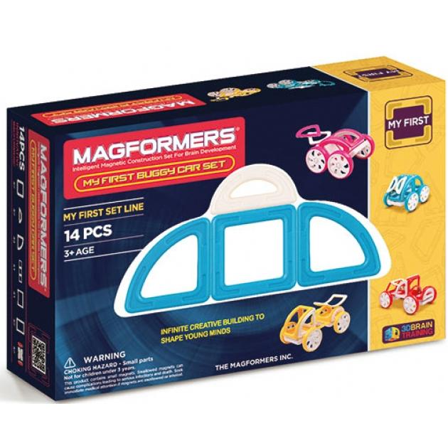 Магнитный конструктор Magformers My First Buggy синий 63146/702007