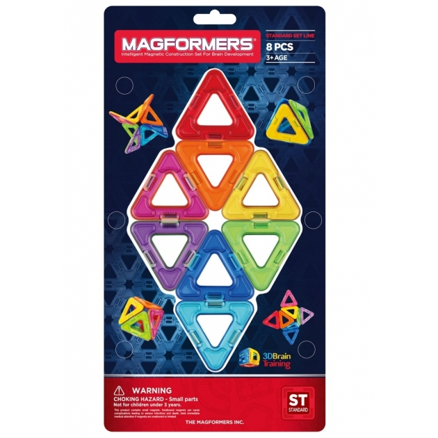 Магнитный конструктор Magformers Треугольники 8 деталей 701002