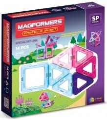 Магнитный конструктор Magformers Pastelle set 14 704001
