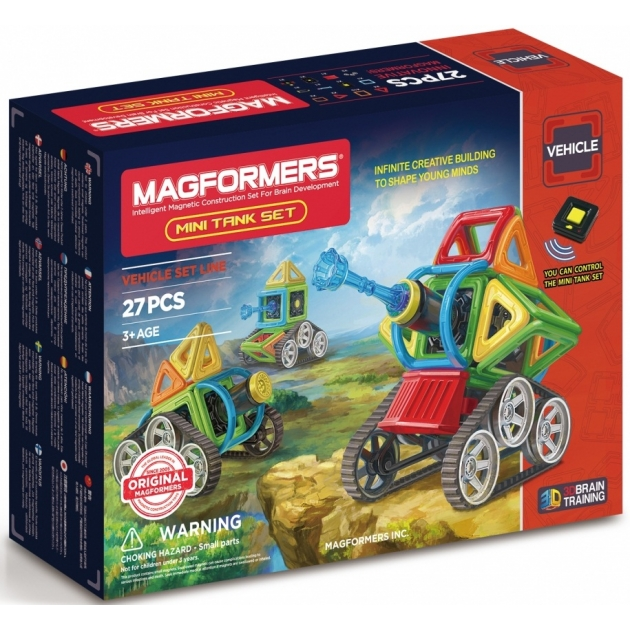 Магнитный конструктор Magformers Mini Tank Set 707010