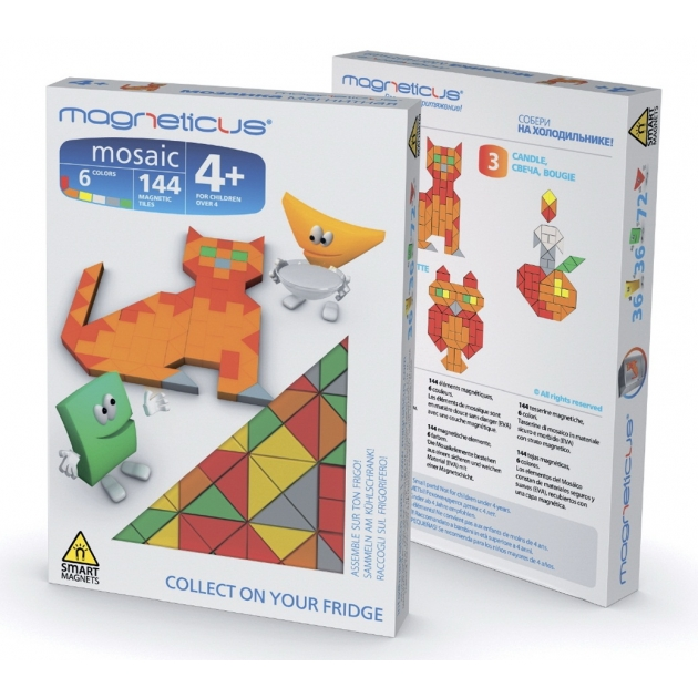 Игровой набор Magneticus Мини Мозаика Кошка MM-04BL