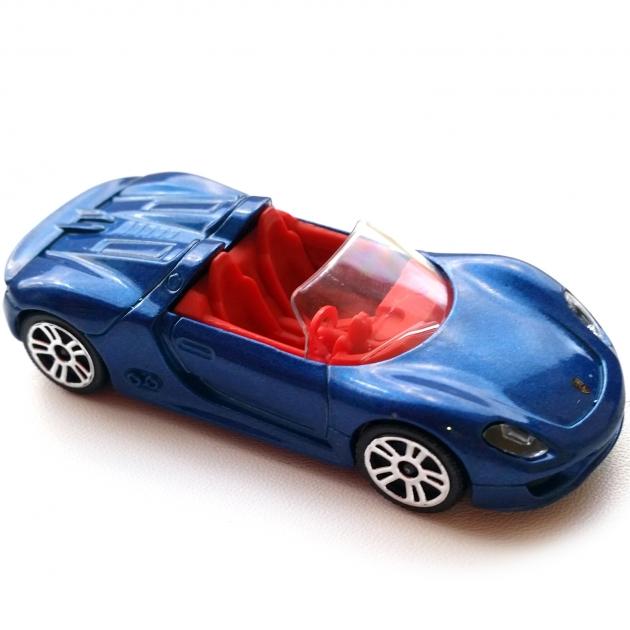 Коллекционная машинка Majorette Porsche синий кабриолет 7.5 см 205279
