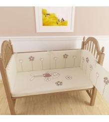 Комплект сменного белья в кроватку 3 предмета Makkaroni Kids Bunny