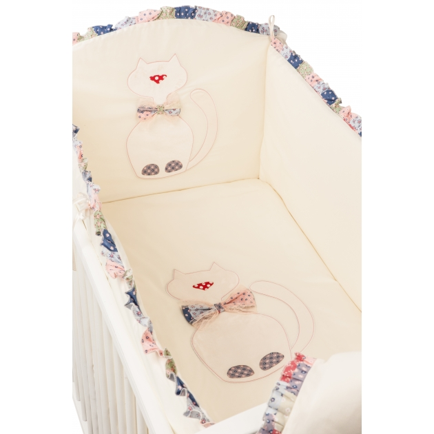 Комплект в кроватку 6 предметов Makkaroni Kids (Маккарони Кидс) Toy Kitty