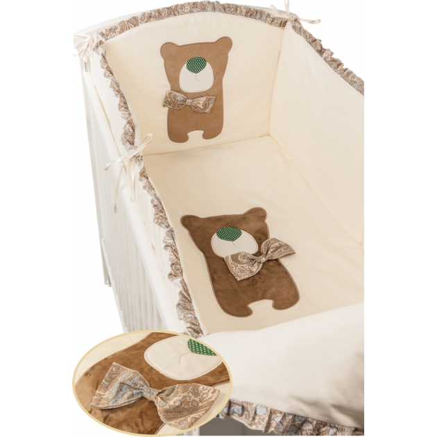 Комплект в кроватку 6 предметов Makkaroni Kids (Маккарони Кидс) Toy Teddy