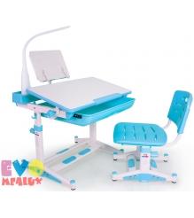 Детская парта и стульчик Mealux Evo 04 New c подставкой и лампой...