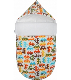 Конверт для новорожденного Mikkimama Берегись автомобиля! зимний...