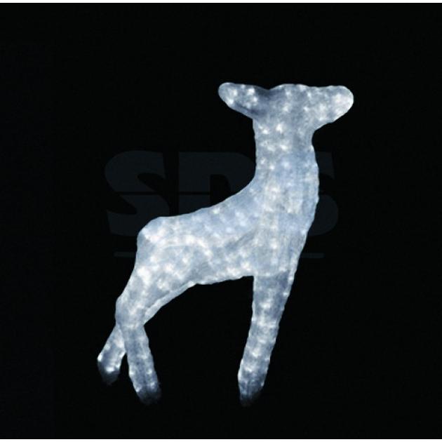 Акриловая фигура Оленёнок 95см, 800 светодиодов, понижающий трансформатор в комплекте, Neon Night 513-103
