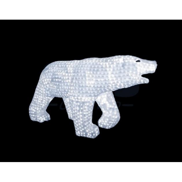 Акриловая фигура Белый медведь 100х175см, 3872 светодиода, понижающий трансформатор в комплекте, Neon Night 513-121