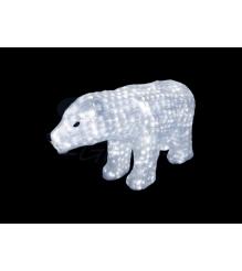 Акриловая фигура Белый медведь 60см, 1168 светодиодов, понижающий трансформатор ...