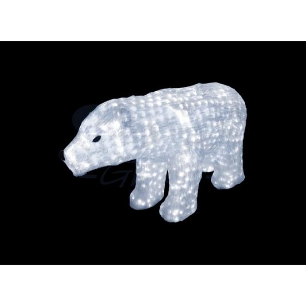 Акриловая фигура Белый медведь 60см, 1168 светодиодов, понижающий трансформатор в комплекте, Neon Night 513-122