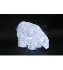 Акриловая фигура Белый медведь 40см, 752 светодиода, IP 44, понижающий трансформ...