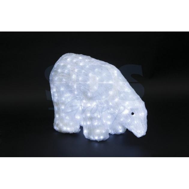 Акриловая фигура Белый медведь 40см, 752 светодиода, IP 44, понижающий трансформатор в комплекте, Neon Night 513-123