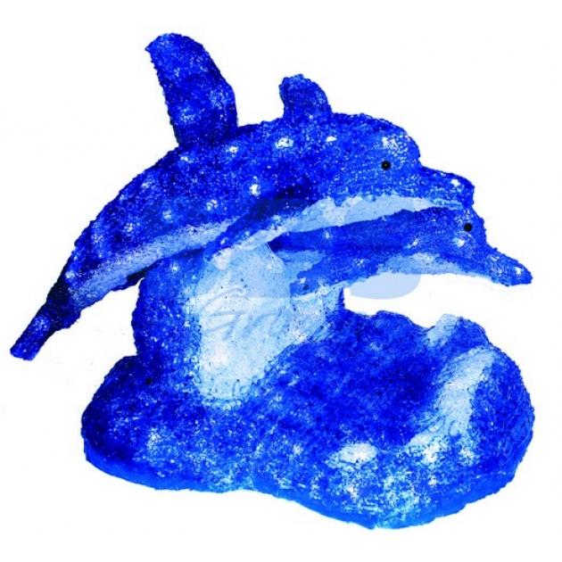 Акриловая фигура Синие дельфины 65х48х48 см,136 светодиодов, понижающий трансформатор в комплекте, Neon Night 513-132