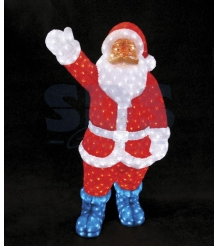 Акриловая фигура Санта Клаус 120см, понижающий трансформатор в комплекте, Neon N...