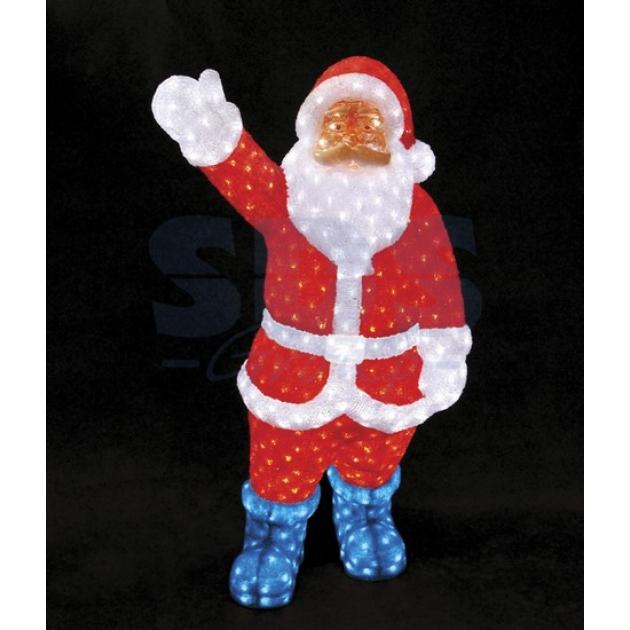 Акриловая фигура Санта Клаус 120см, понижающий трансформатор в комплекте, Neon Night 513-181