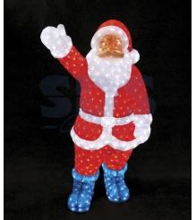 Акриловая фигура Санта Клаус 210см, понижающий трансформатор в комплекте, Neon N...