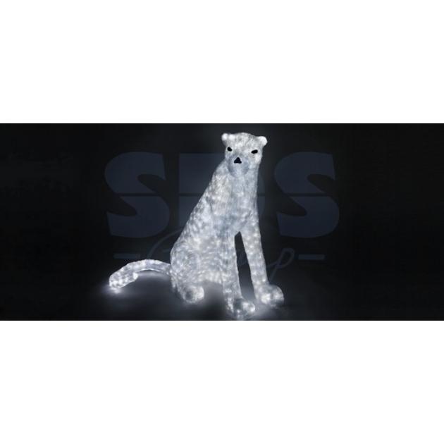 Акриловая фигура Леопард сидит 80см, 1000 светодиодов, понижающий трансформатор в комплекте, Neon Night 513-241