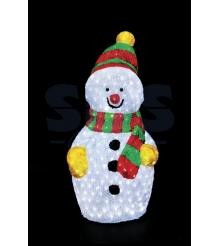 Акриловая фигура Снеговик 90х48 см, 450 светодиодов, понижающий трансформатор в ...