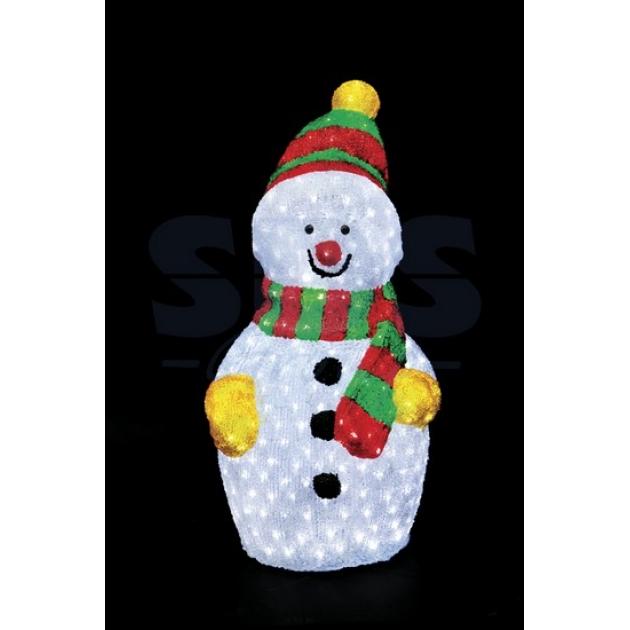 Акриловая фигура Снеговик 90х48 см, 450 светодиодов, понижающий трансформатор в комплекте, Neon Night 513-243