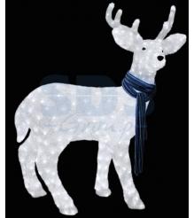 Акриловая фигура Северный олень 100х65 см, 420 светодиодов, понижающий трансформатор в комплекте, Neon Night 513-244