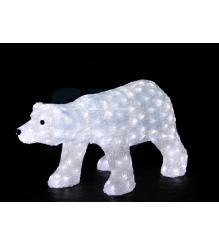 Акриловая фигура Белый медведь, 81х41х45 см, 270 светодиодов белого цвета, пониж...