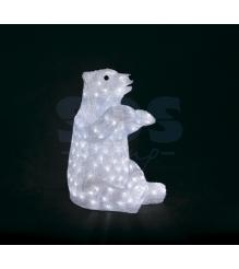 Акриловая фигура Белый медведь 36х41х53 см, 200 светодиодов, понижающий трансфор...