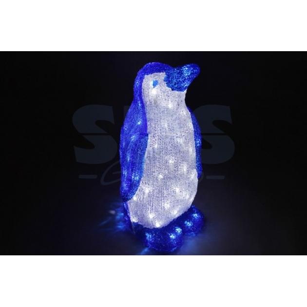 Акриловая фигура Пингвин 50 см,100 светодиодов, понижающий трансформатор в комплекте, Neon Night 513-250