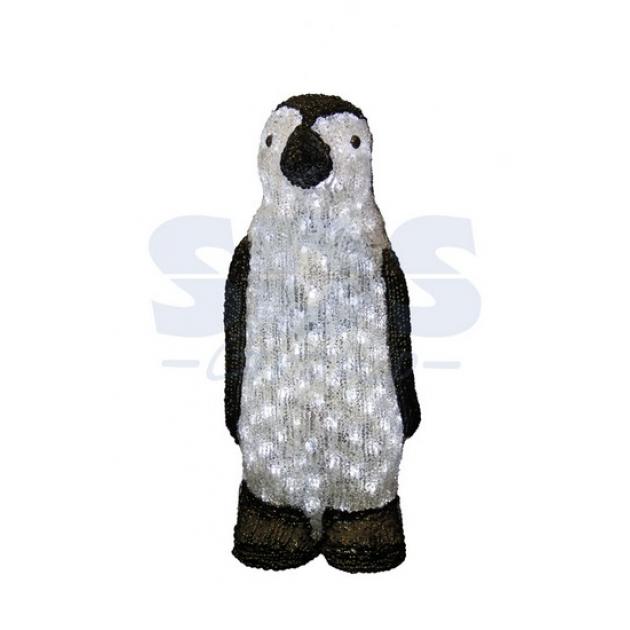 Акриловая фигура Пингвин 40 см, 60 светодиодов, понижающий трансформатор в комплекте, Neon Night 513-251